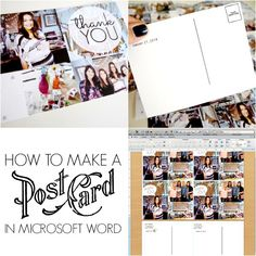 How to make postcards with Microsoft Word and http://PicMonkey.com