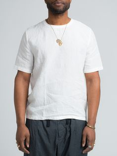 OUR LEGACY WEAVED TEE-WHITE DUNE LINEN - GENTRY NYC - 6