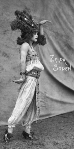 Zelda Boden, circus performer in the 1910's-1920's