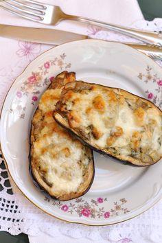 Egy tál étel: Csirkés-gombás töltött padlizsán gluténmentes egytálétel