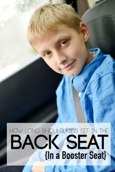 How long should kids sit in back seat? One of those parenting things you don't know until you've been there.
