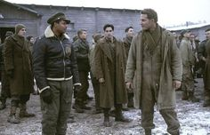 Still of Terrence Howard, Colin Farrell and Cole Hauser in Hart's War