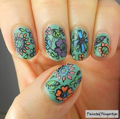 Floral Nails: 40 Great Nail Art Ideas for Spring | Painted Fingertips