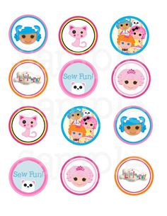 Lalaloopsy Cupcake Topper / Printable / Label by Thequiltedmonster, $4.50: