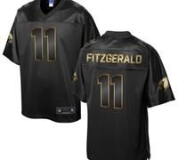 Nike Arizona Cardinals #11 Larry Fitzgerald Pro Line Black Gold Collection Men's Stitched NFL Game Jersey