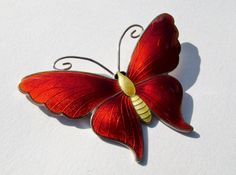 Amazing JA&S Silver and Enamel Butterfly Brooch 1918. UPDATE 4/13/14: Wow, this sold for $547.12!