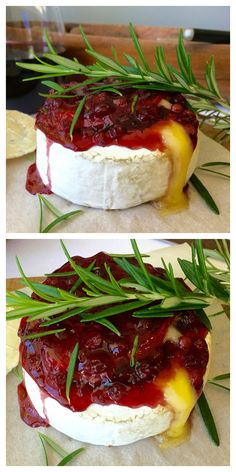 I love this classic holiday appetizer for Thanksgiving and Christmas. Quick and easy to make, sweet and savory combined with melted gooey cheese (tastes better than Cranberry Baked Brie!) - Easy Baked Brie with Lingonberry (брусника) Thanksgiving Appetizers, Holiday Appetizers, Appetizer Recipes, Holiday Recipes, Cheese Appetizers, Christmas Recipes, Dessert Recipes, Lingonberry Recipes, Baked Brie Recipes
