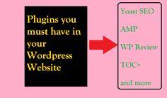 Plugins We Must Have in Our WordPress Website