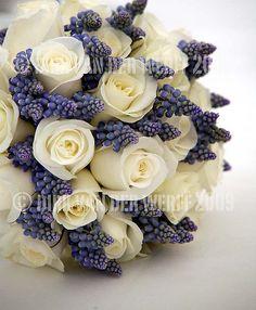 SPRING BOUQUET - WEDDING FLOWERS - BRIDE - TEESDALE WEDDING - EXCLUSIVE USE - PHOTOGRAPHY -  NORTH EAST ENGLAND - WEDDING VENUE - MUSCARI - ROSA - CREAM - WHITE - BLUE - POWDER BLUE by Dirkvdw, via Flickr