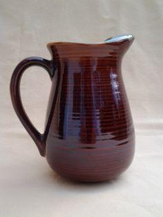 Vintage Red Wing Pottery Pitcher Ice Lip 1960 S Village Green Dinnerware Kitchenware