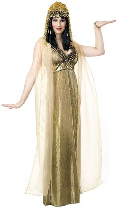 Egyptian Cleopatra Empress of the Nile Costume in Gold