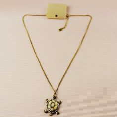 Charming Tortoise Embellished Pendant Women's Sweater Chain Necklace