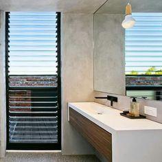 Concrete, Timber Bathroom