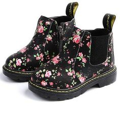 Botas Chelsea, Chelsea Ankle Boots, Baby Boots, Kids Boots, Floral Ankle Boots, Worker Boots, Cheap Boots, Martin Boots, Childrens Shoes