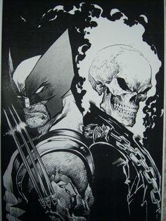 Wolverine & Ghost Rider