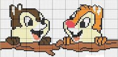 CHARMS IN POINT CROSS: Chip and Dale