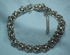 Vintage Sterling Silver BB Sterling Starter Charm Bracelet   eBay