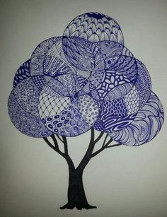 My own 1st Zentangle tree. (not mine). would love to do this 1 day soon. love the look of it: