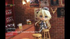 DIY American Style Bar - Miniature Bar Diorama tutorial for Nendoroid, dolls, Figma Photography - YouTube