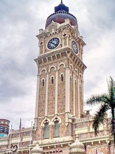 "Sultan Abdul Samad Building Clock Tower is almost 40 metres high and is affectionately dubbed ""Big Ben"", topped with a gleaming copper dome and flanked on both sides by two domed towers. The building is used today as the Ministry of Heritage, Culture and Arts in Kuala Lumpur, Malaysia."