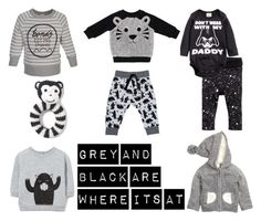 Monochrome styling for baby boys