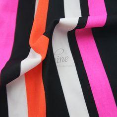 Licorice Allsorts Stripe Spandex | Shine Trimmings & Fabrics