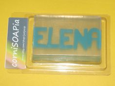 Custom Name Soap by justjacqs on Etsy, $8.00
