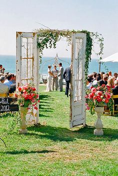 24 Fabulous Rustic Old Door Wedding Decoration Ideas ❤ Fresh air, smell of wood, hay, a lot of string lights around, beautiful decor... See our gallery of old door wedding decoration ideas for more inspiration! See more: http://www.weddingforward.com/old-door-wedding-decoration-ideas/ #weddings #decoration