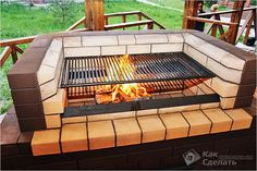 Extraordinary Authenticity in 41 Grill and Barbecue Design Ideas For Your Parties homesthetics grill design ideas Design Barbecue, Grill Design, Outdoor Oven, Outdoor Cooking, Fire Pit Backyard, Backyard Bbq, Bbq Grill, Grilling Shrimp, Brick Bbq