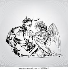 Passion between an angel and the demon