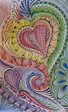 Original MultiMedia Painting and Drawing Hearts