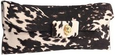 ShopStyle: Alexander McQueen Oversized Soft Clutch In Peppered Pony Print