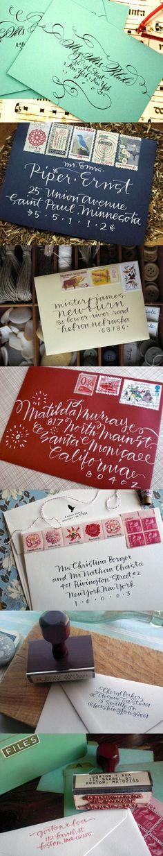Handlettering Mailing Envelopes   #calligraphy #handlettering    http://jonesdesigncompany.com/things-i-like/thing-i-like-pretty-handwriting/