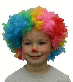 Gekleurde clownspruik voor kinderen