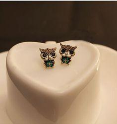 Jewelry Lady Fashion Style Owl Rhinestone Cute Vintage Ear Stud Earrings for sale online Owl Earrings, Cheap Earrings, Rhinestone Earrings, Cute Earrings, Vintage Earrings, Crystal Rhinestone, Silver Earrings, Vintage Rhinestone, Diamond Earrings
