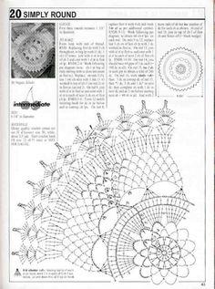 Magic crochet № 152 - Edivana - Picasa Web Albums Crochet Doily Diagram, Crochet Doily Patterns, Crochet Chart, Thread Crochet, Filet Crochet, Crochet Motif, Crochet Doilies, Crochet Stitches, Knit Crochet