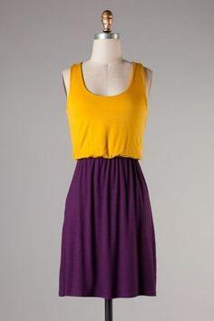 Gameday Dress - LSU or ECU! $38 with FREE SHIPPING