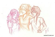 Hazel Levesque, Annabeth Chase, and Piper McLean