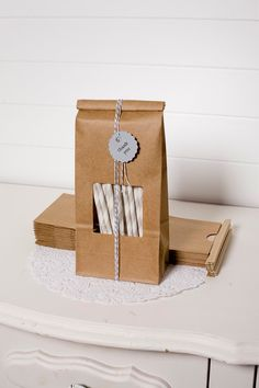 i love this simple idea of bakery twine on coffee bags, get both at creativebag.com