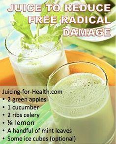 Juicing to reduce free radical damage