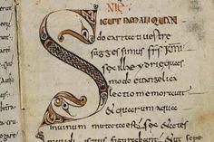 """Insulare Initiale """"S"""" aus Flechtband (Reims, um 800)  Vatikan"""