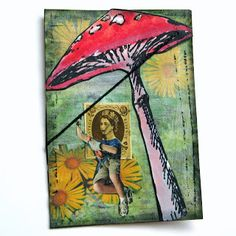 Postage Stamp People Swap: She Had a Taste For Adventure ATC