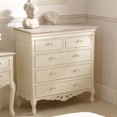Camille 5 Drawer Chest - Ivory