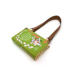 Alice in Wonderland Book Purse - Handbag- Book Clutch, Novel Bookpurse - Great Christmas gift for any book lover, teacher, librarian, teen