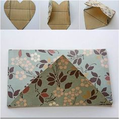 How to Fold a Cute DIY Envelope from Heart Shaped Paper #DIY #craft