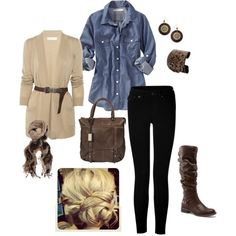 pulled together casual, created by kristen-344.polyvore.com
