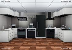 Kitchen appliances set by Dara- Sims 3 Downloads CC Caboodle