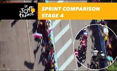 Sprint comparison - Sagan / Cavendish - Stage 4 - Tour de France 2017