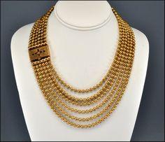 art deco gold pearls