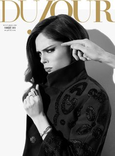 DuJour February 2013  Coco Rocha photographed by Nigel Barker.